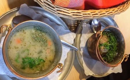 リンセンスープとクネーデルスープ