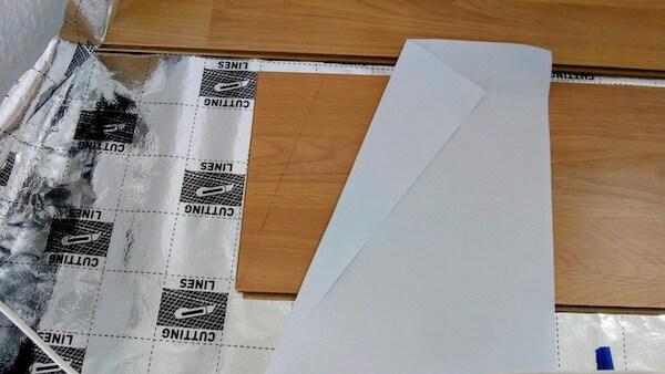 斜めの箇所は紙で計測